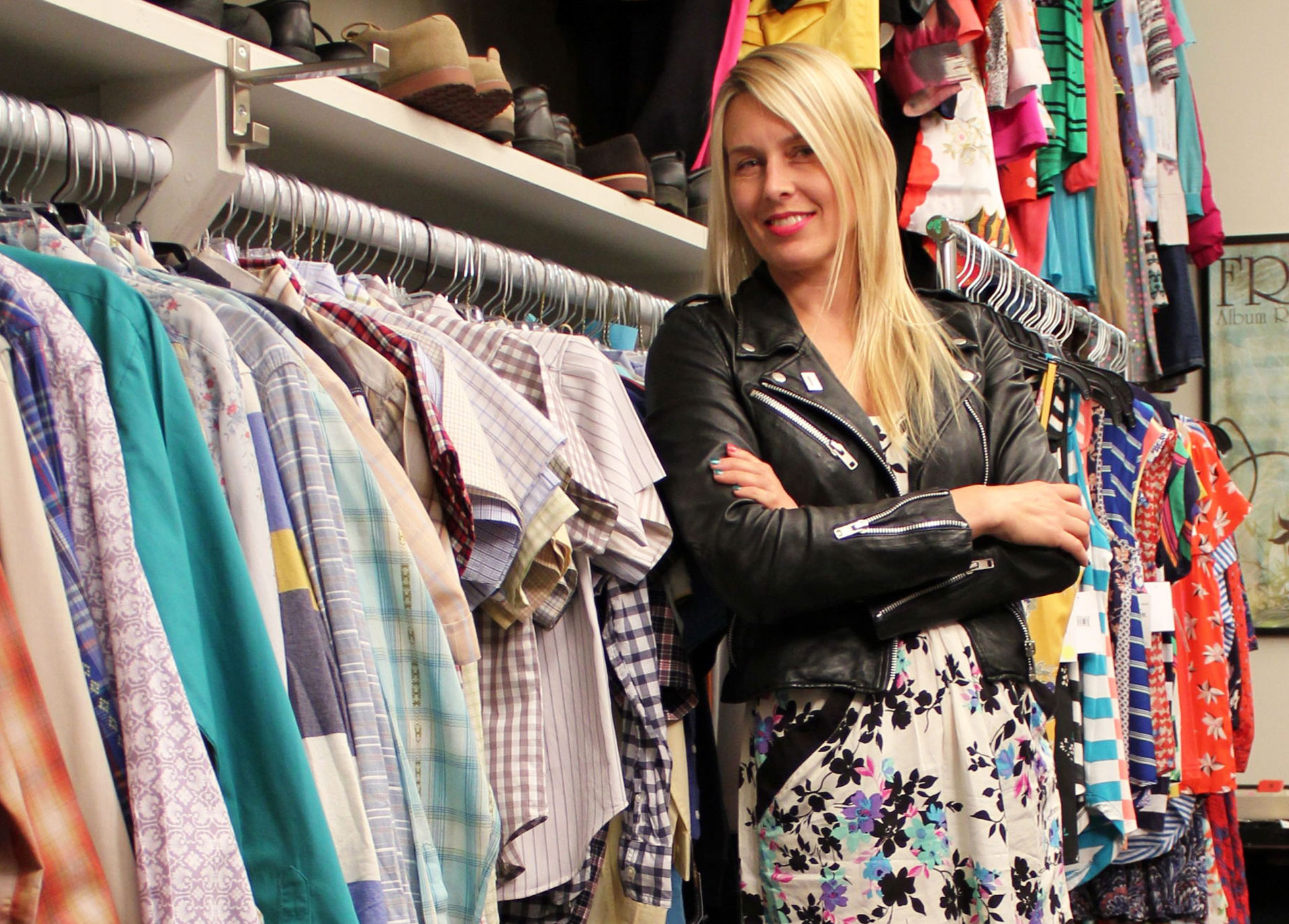 Costume designer Alison Freer in her closet.