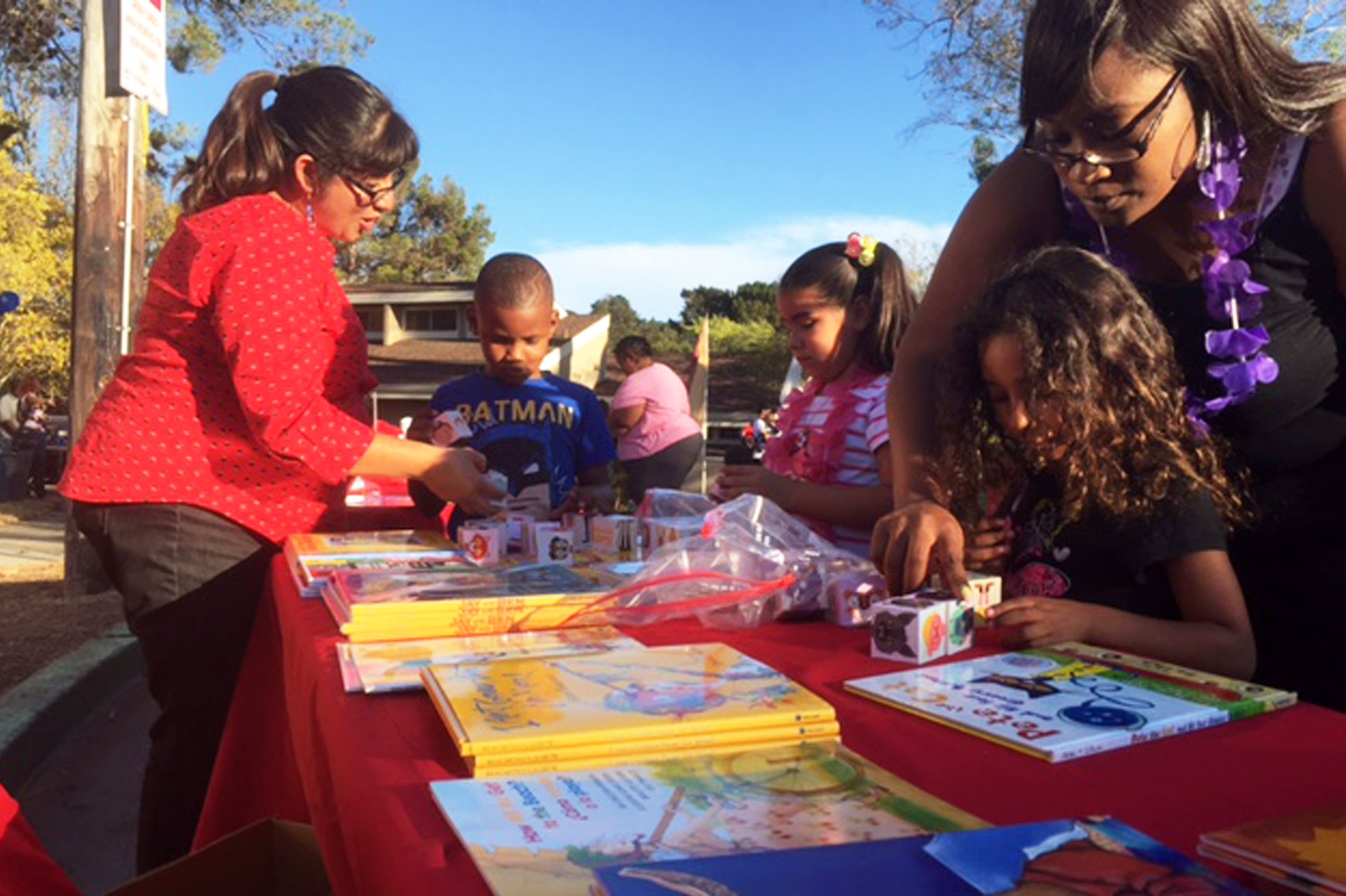 Children in Pinole take advantage of a free book drive designed to get kids reading.