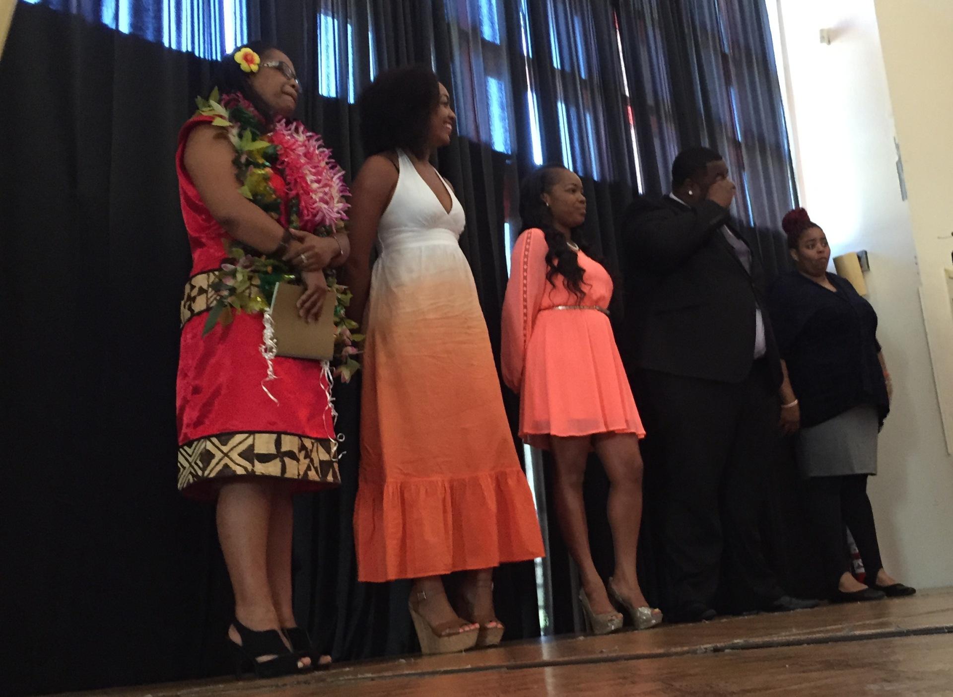 Alumni from Potrero Hill's Alive & Free organization and 2015 college graduates take the stage Aug. 2, 2015.