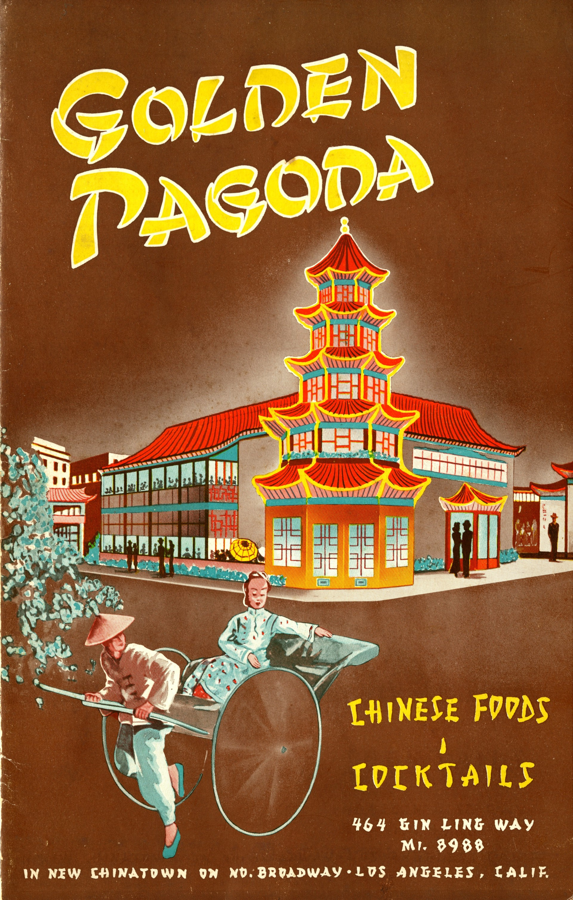 Menu cover from the Golden Pagoda restaurant.