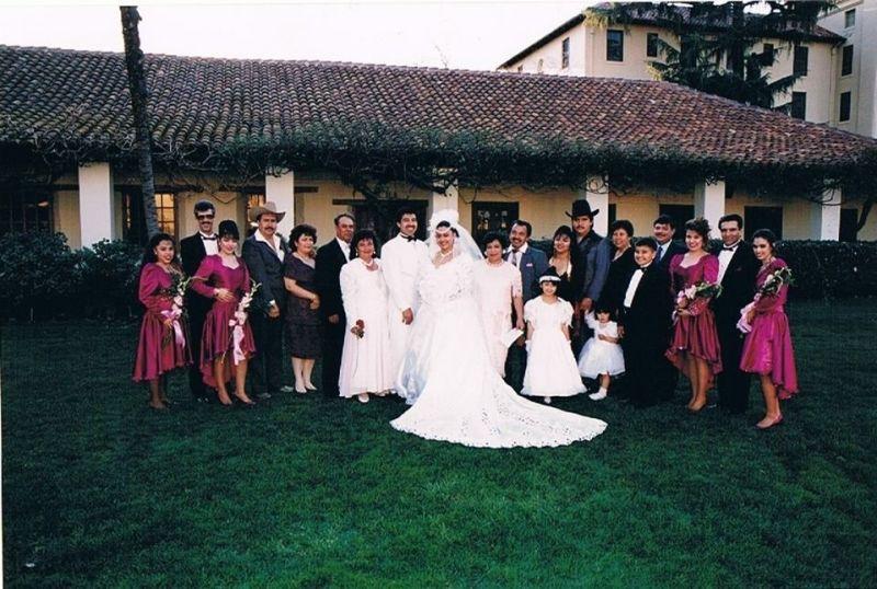 Jorge and Magda's wedding, 21 years ago.