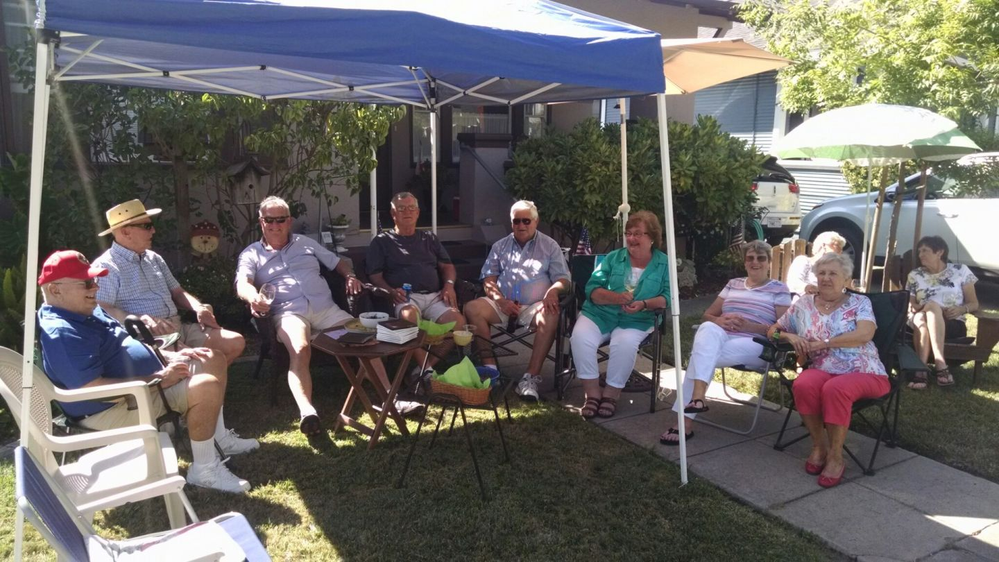 Sheree Solomon invites friends over each year to sit on the lawn and take in Porchfest.