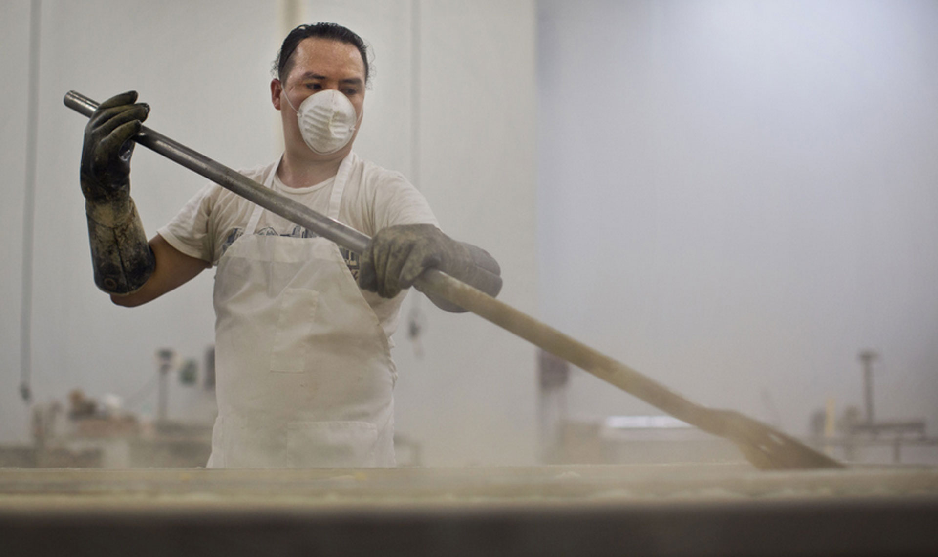 Anibal Calderon cooks yellow corn for tortillas at La Amapola Inc. in Santa Fe Springs on Monday, June 15, 2015. Though La Amapola Inc. can't save water in the cooking process, the company is using less water when it comes to cleaning their facilities.