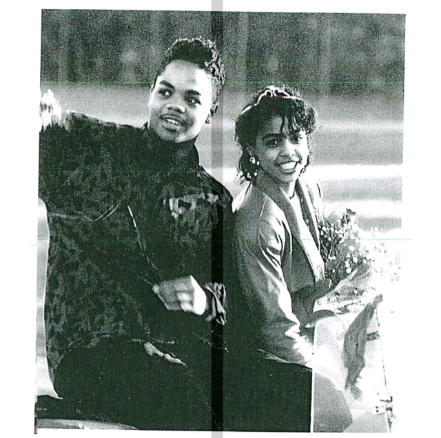 A photo of Vester Flanagan and classmate Tiffany Herndon from 1991 yearbook of Skyline High in Oakland, in which they were identified as 'prince and princess.'