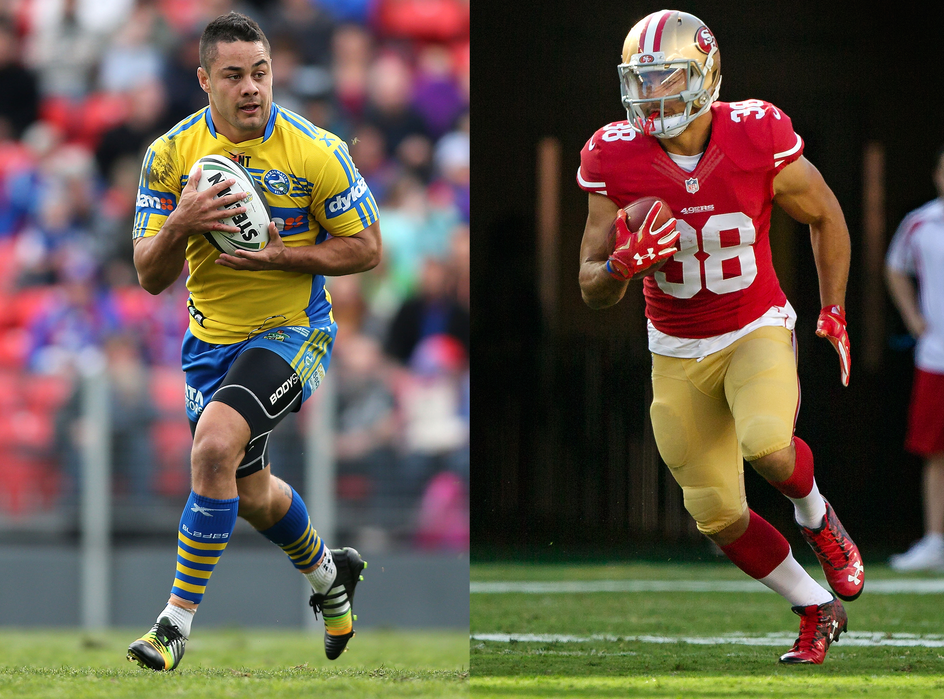 Jarryd Hayne has a good chance of making the 49ers 53-man roster. (Getty Images)