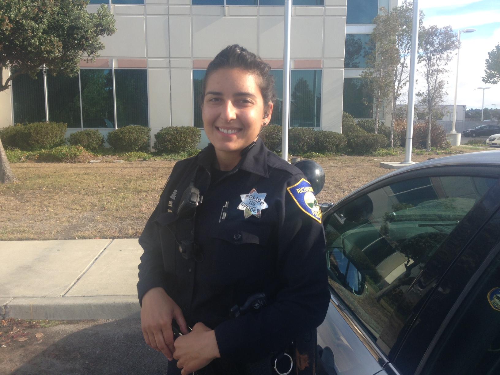Richmond Police Officer Jennifer Cortez.