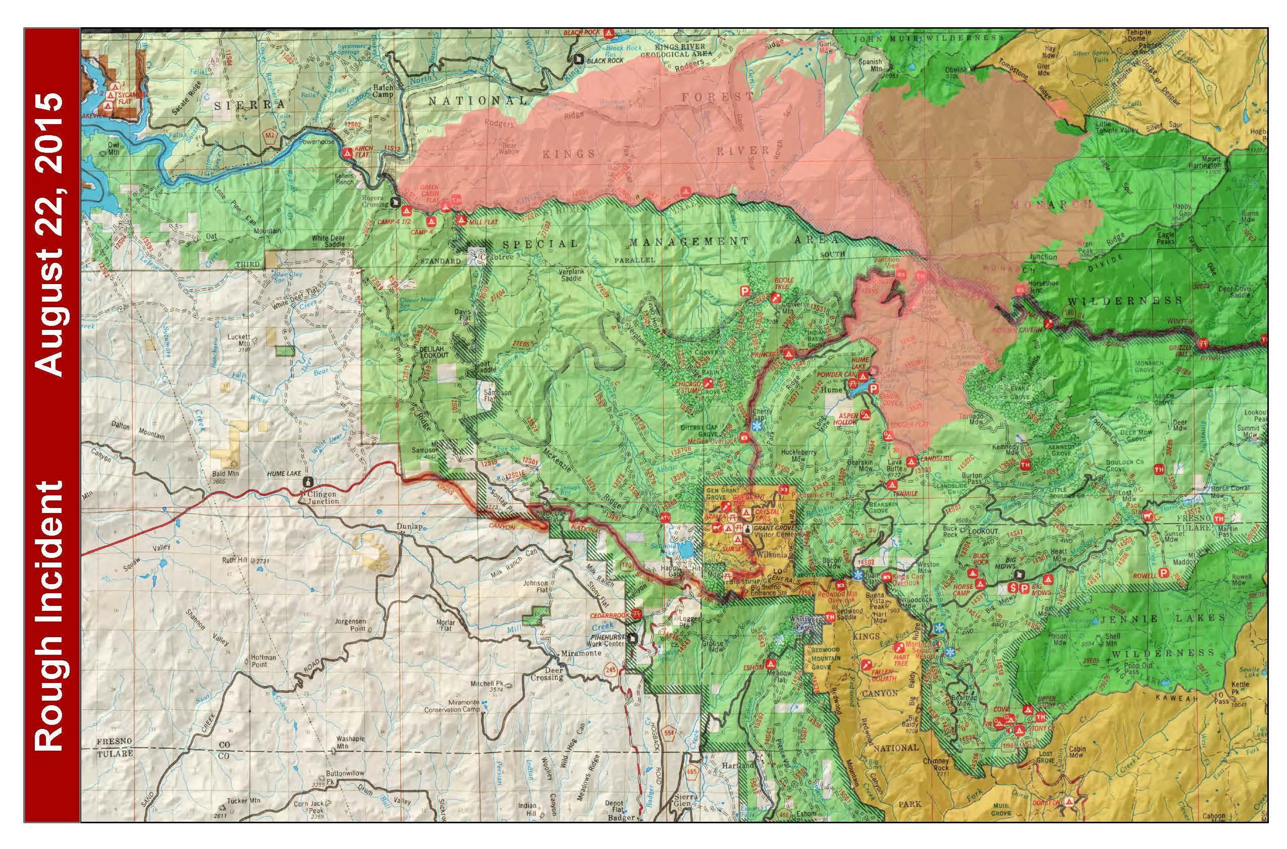 Lake Isabella Fire Map.Rough Fire Update Raining Ash In Fresno The California Report
