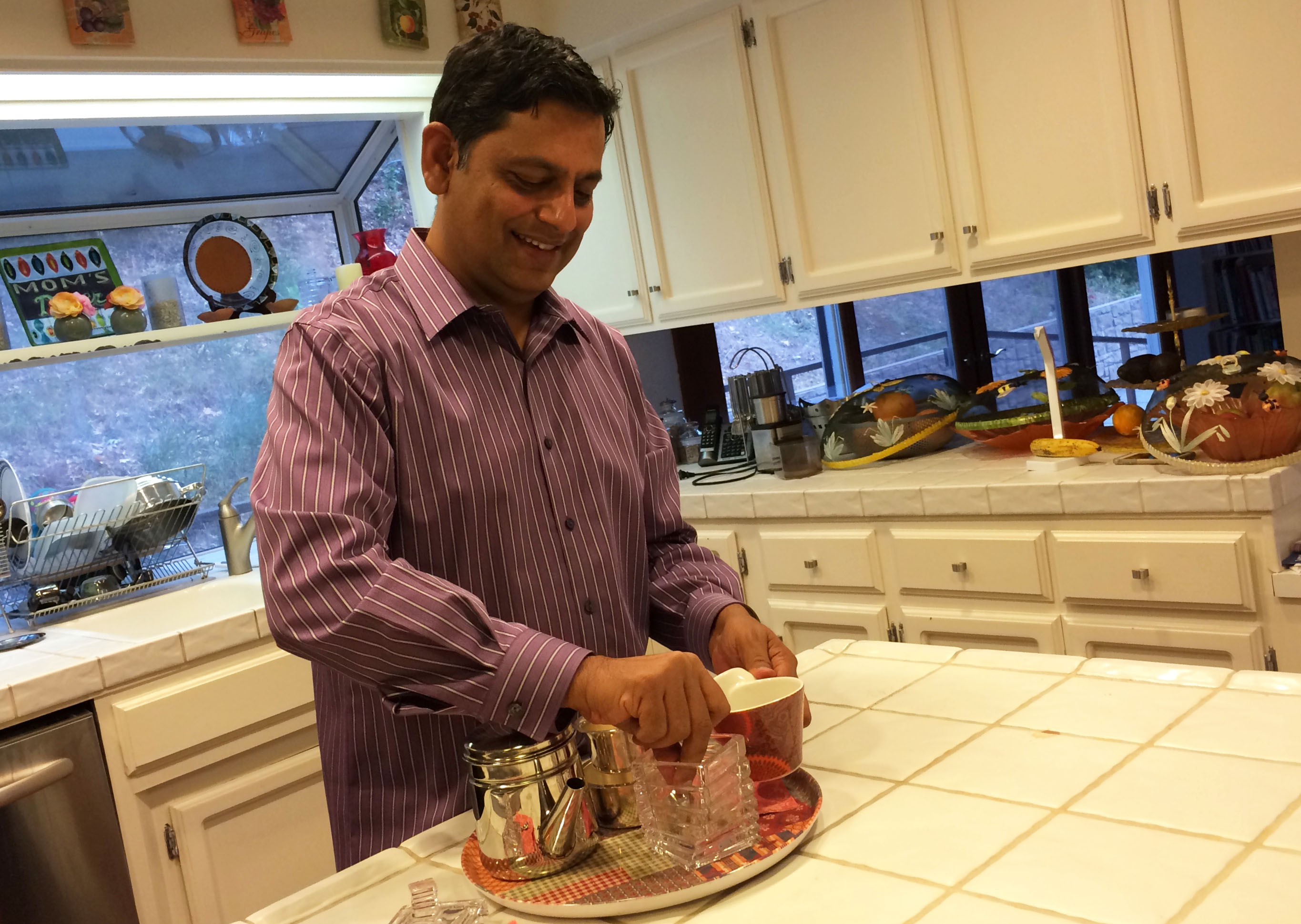 Silicon Valley startup founder Deepak Aatresh starts every day with a touch of his homeland -- south Indian filter coffee.