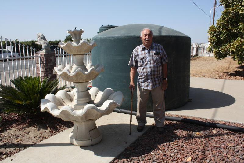Alvaro Alvarez and his family had been out of water for almost 18 months before a county-sponsored nonprofit installed a water tank at their Porterville home last month. Neighbors shared water with them for months until their well ran dry, too.