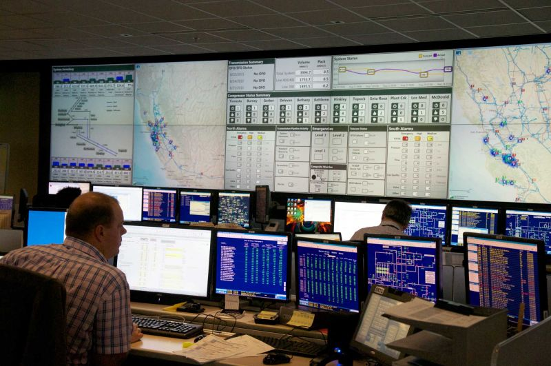 In 2013 PG&E opened a $38 million control room facility in San Ramon. There, engineers monitor gas flow in real-time.