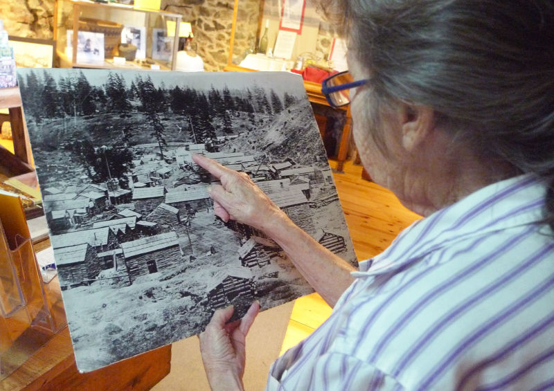 Marilyn Ferguson, local historian at the Fountain and Tallman Museum on Main Street in Placerville.
