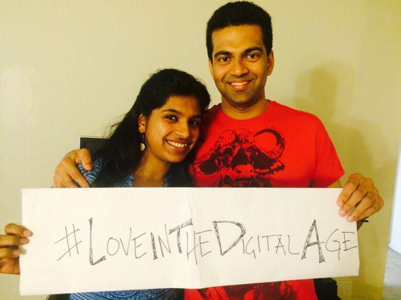 Gomathi and Prashanth at home in Fremont, California