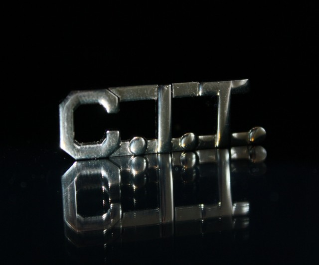 Officers who have gone through CIT training wear this pin on their uniform. (Alex Emslie/KQED)