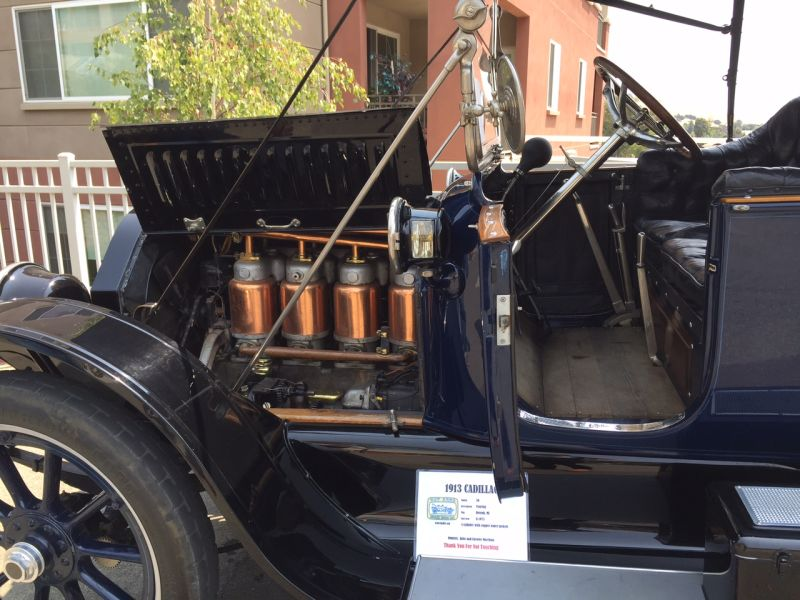 Club member John Morrison's 1913 Cadillac was restored after being found in a junkyard in 1948.