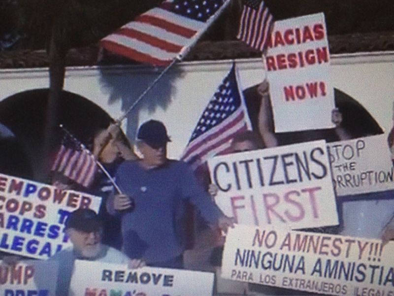 Anti-illegal immigration activists from outside Huntington Park have become regular fixtures at public meetings since the appointment of two undocumented immigrants to city commissions.
