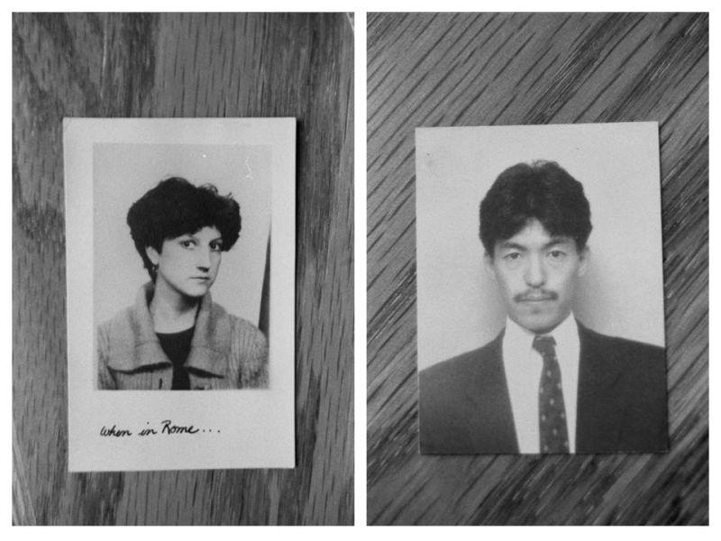 Yoichi Shiga's mother and father.