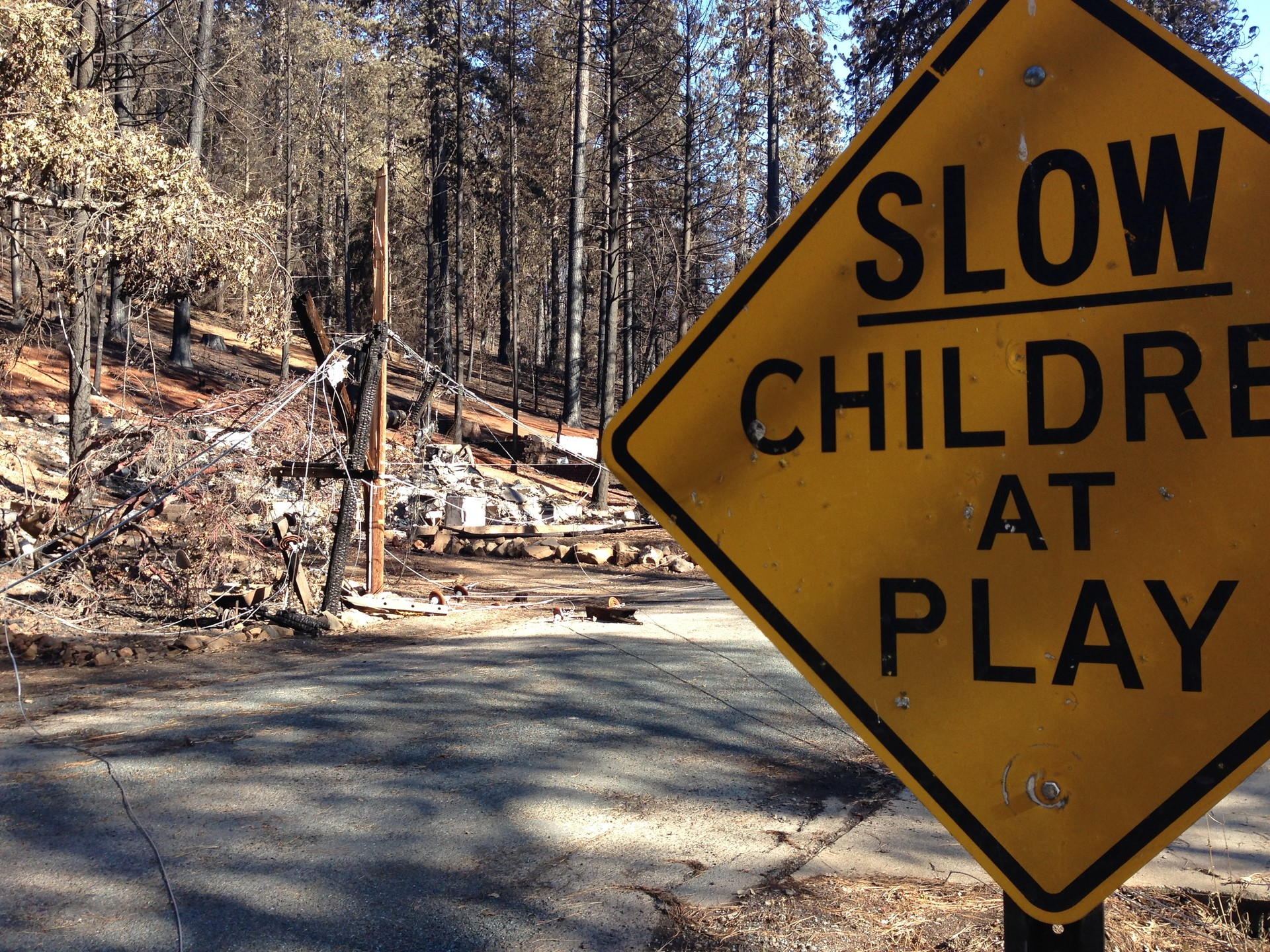 A house in Cobb mountain destroyed by the Valley Fire.