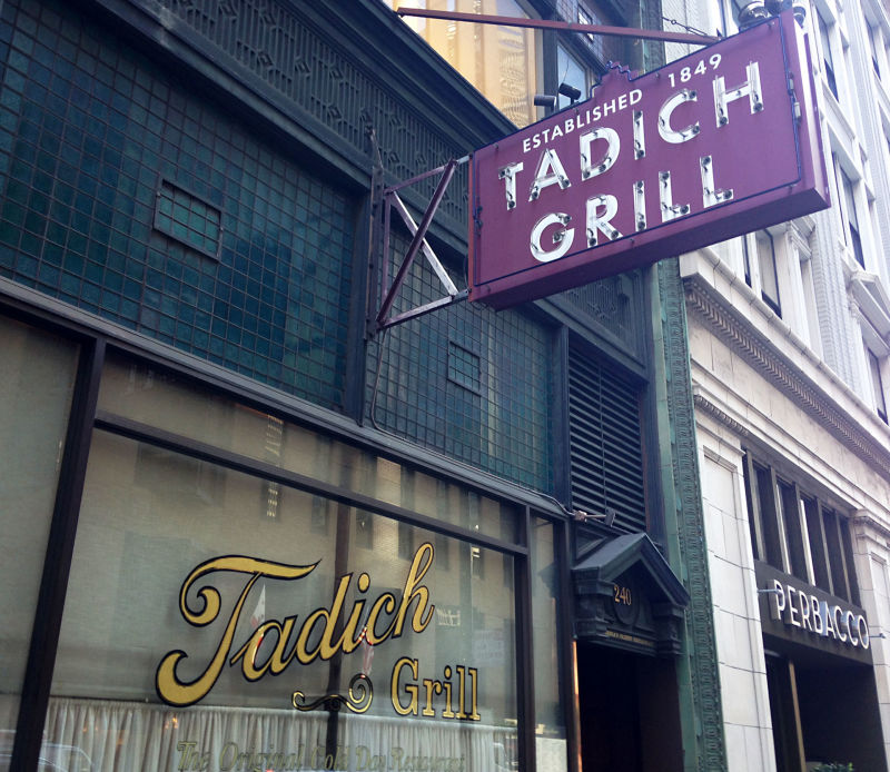 San Francisco's Tadich Grill started in 1849 as a coffee tent on the wharf. They've been serving the Hangtown Fry for over 160 years.
