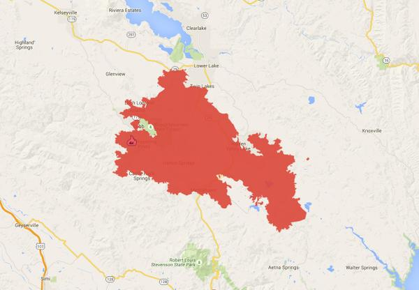 Lake Berryessa Fire Map.Valley Fire Update 3 000 Homeless Cost Likely Hundreds Of