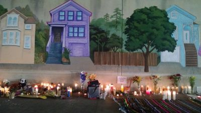 This purple house was Ramos' last work