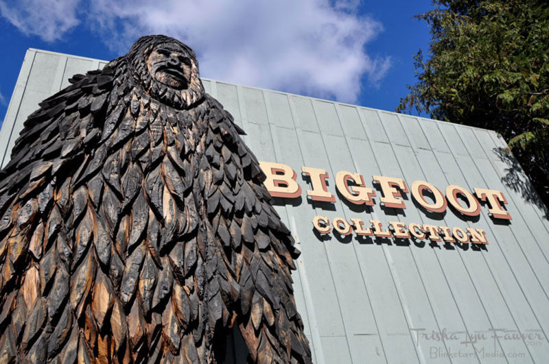 Outside a Bigfoot museum in Willow Creek.