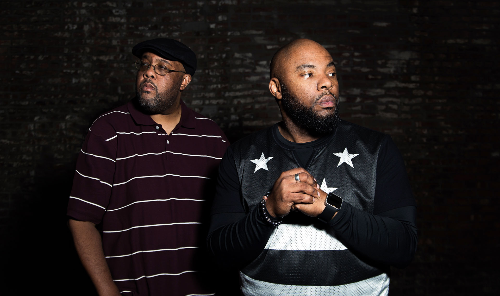 Gift of Gab (L) and Chief Xcel of Blackalicious.