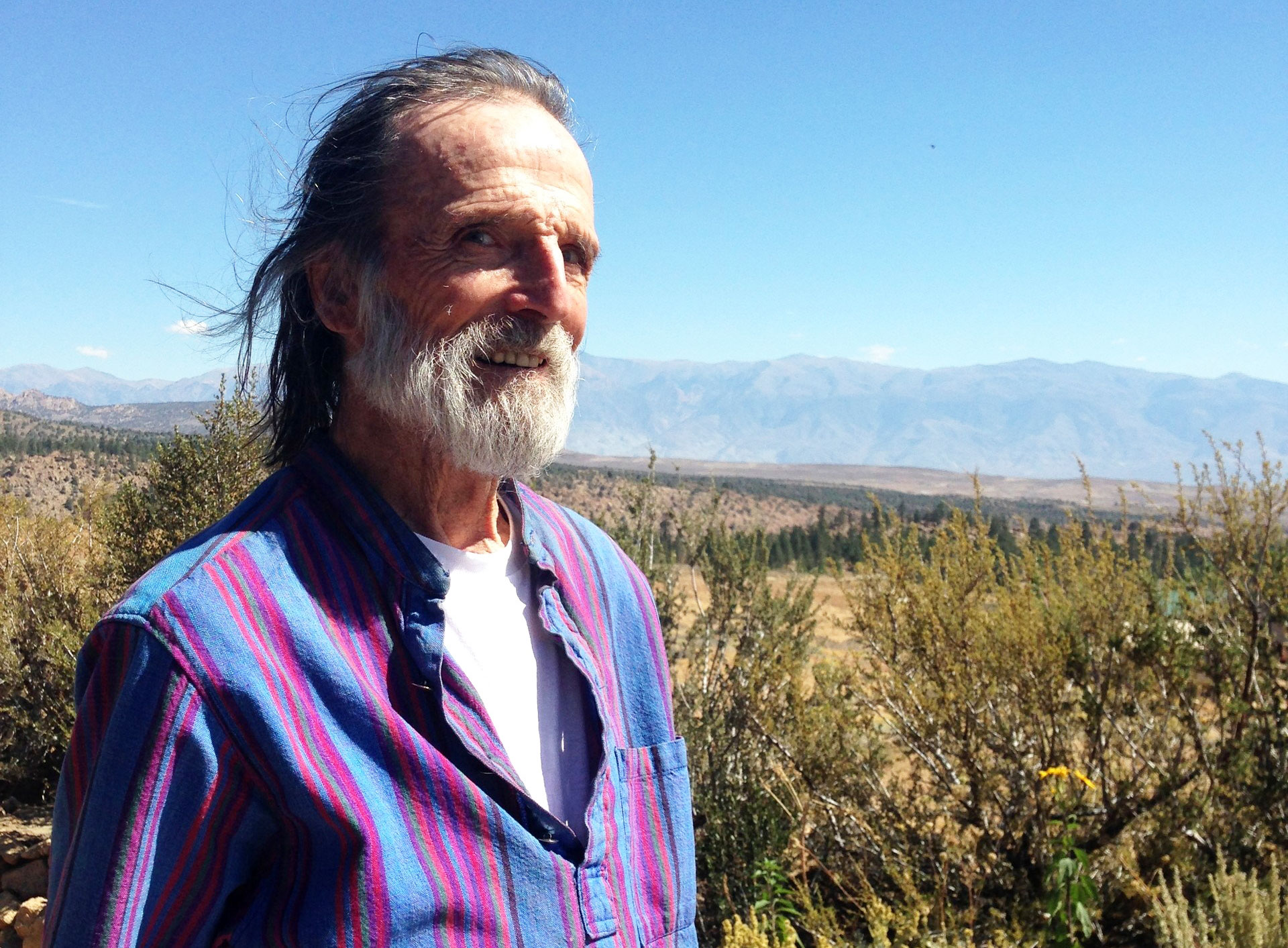 Ray Dutcher at his Swall Meadows cabin.