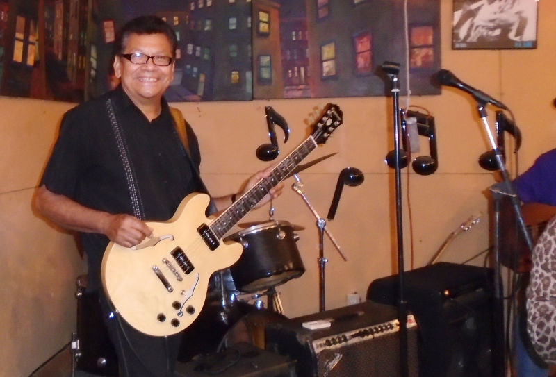 Guitarist and singer Tony Ibarra, a regular at the Blues Workshop.