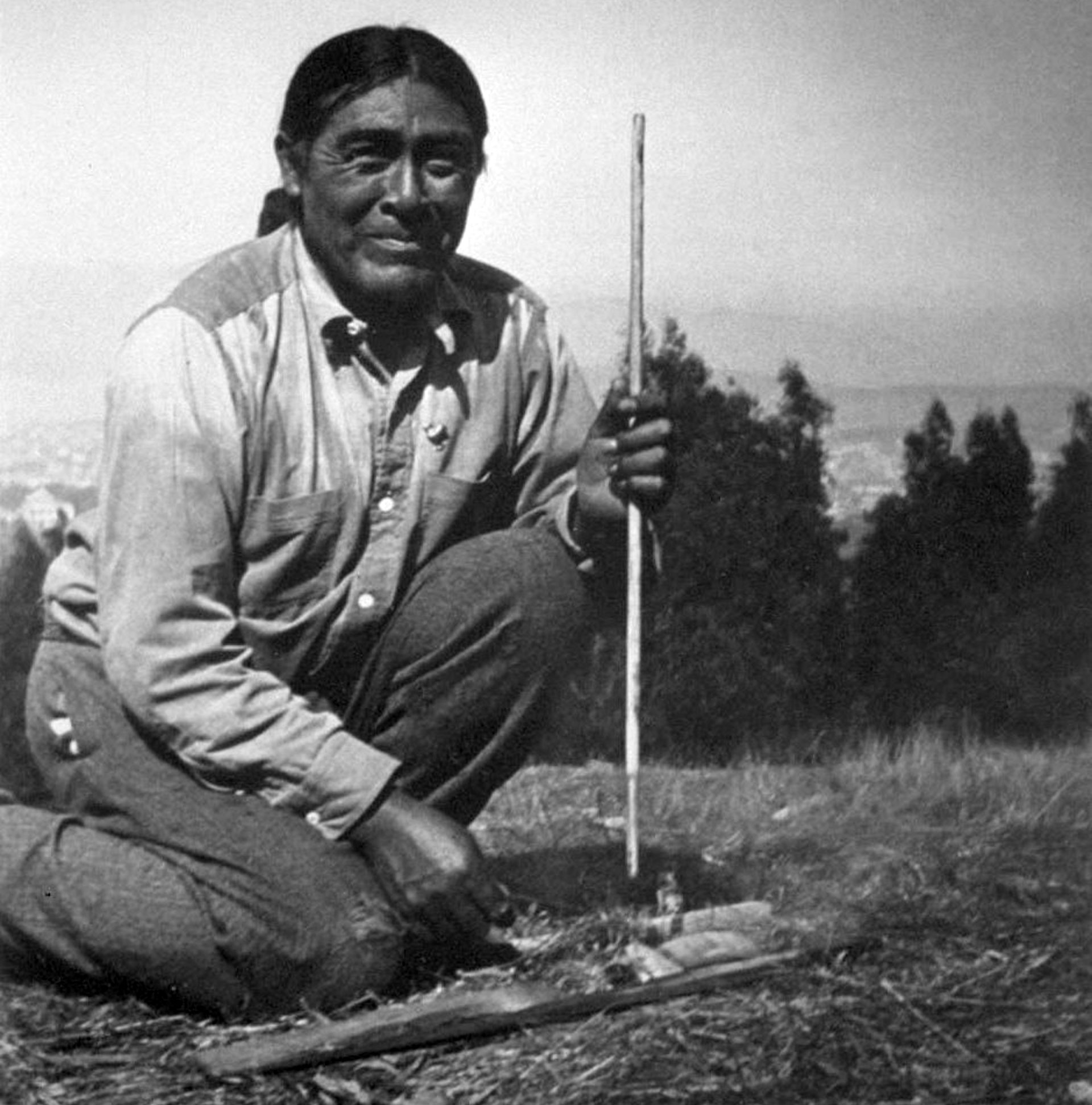 Ishi (1860-1916), the last surviving member of the Yahi Indian tribe of California.