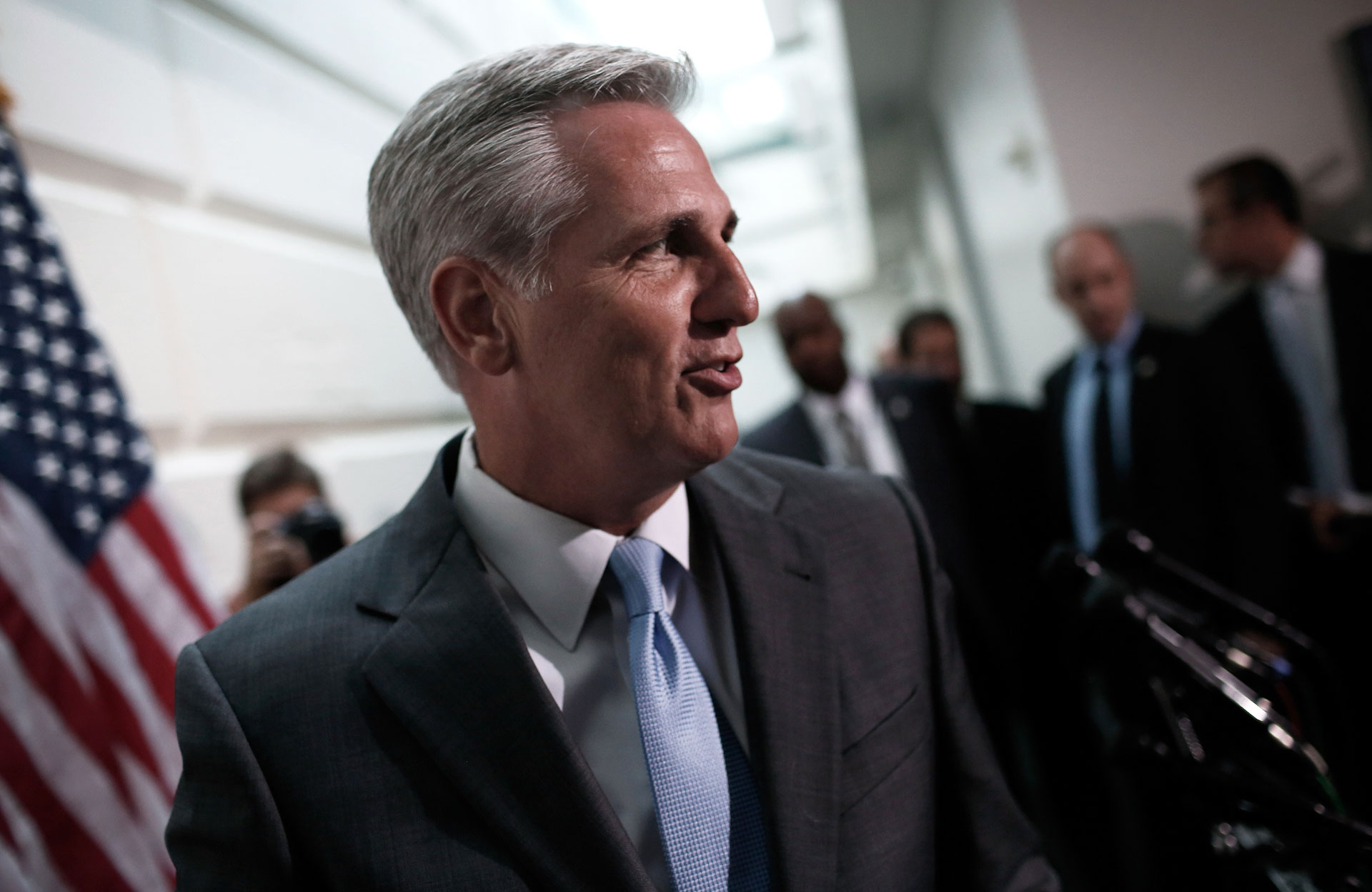 Rep. Kevin McCarthy leaves a meeting at the Capitol on June 18, 2014.