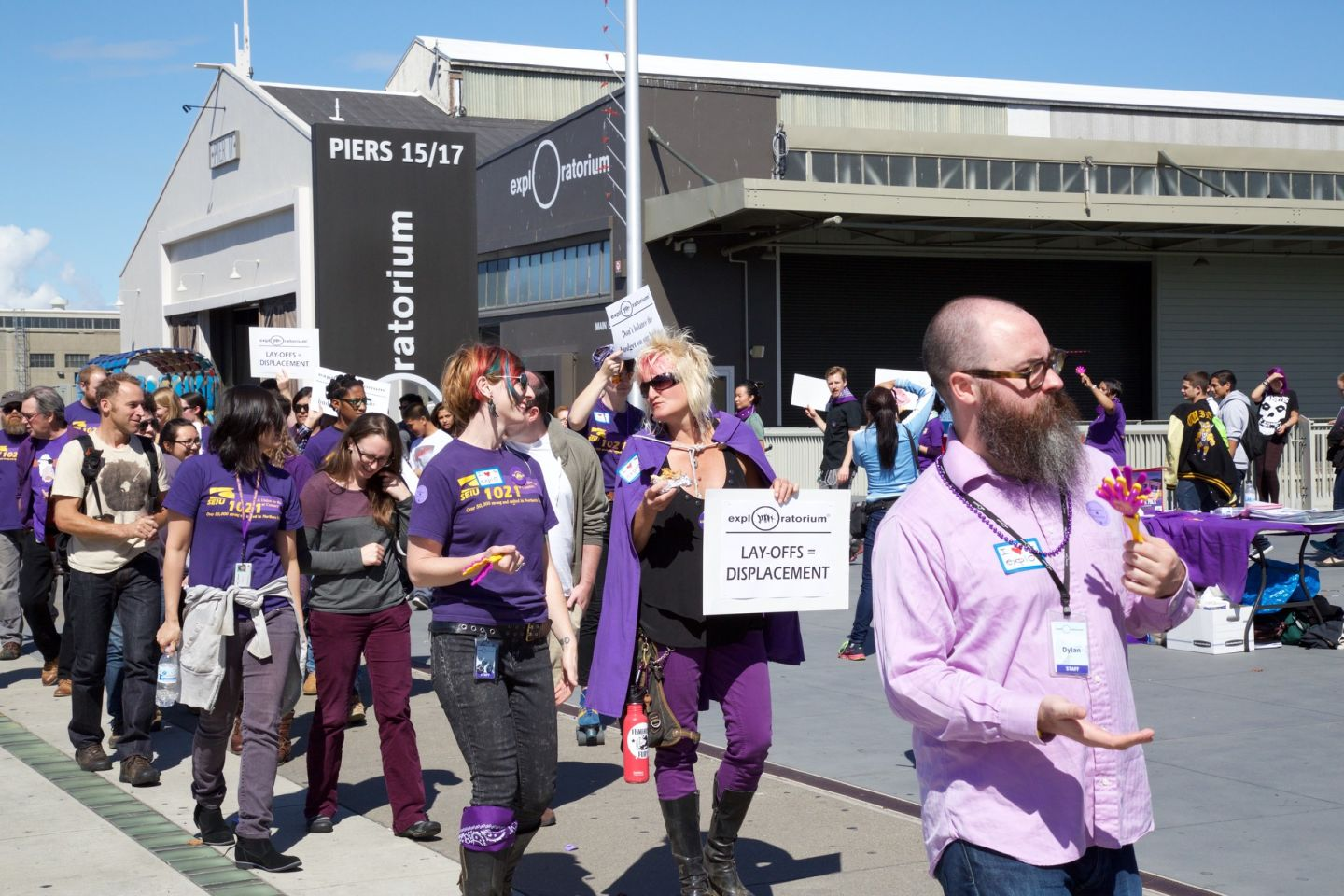 Exploratorium Workers Protest Layoffs
