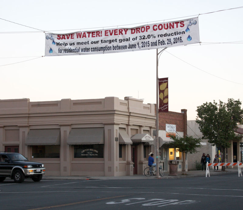 The city of Livingston is required to hang banners urging water conservation as part of its agreement with the state.