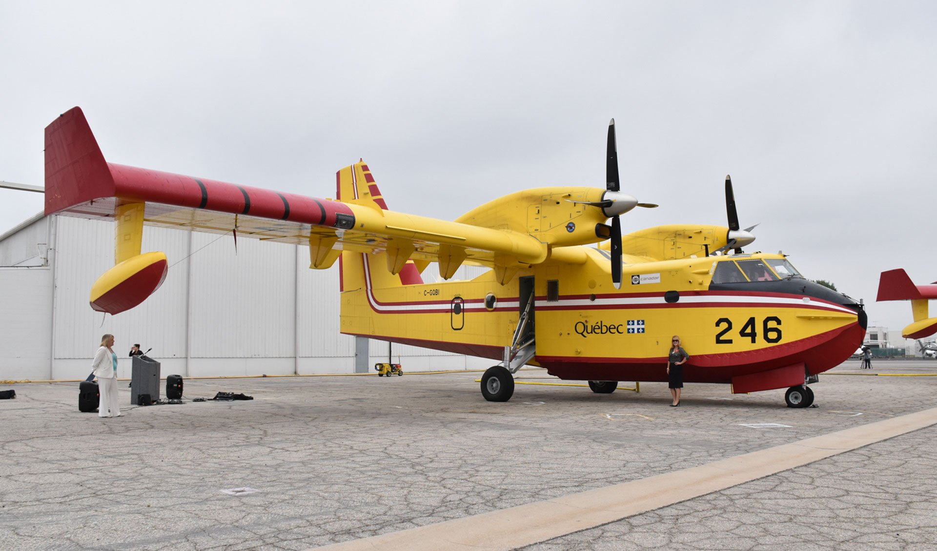 The L.A. County Fire Department is leasing firefighting aircraft like this Super Scooper from the Government of Quebec.