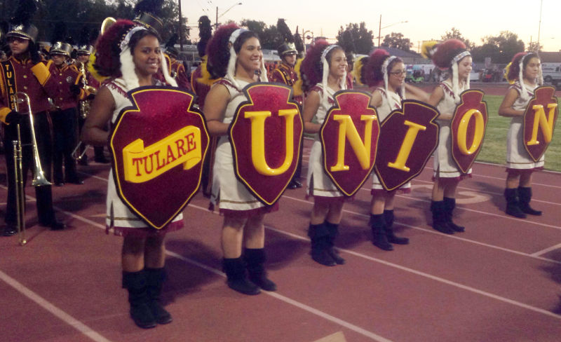 The Tulare Union color guard.