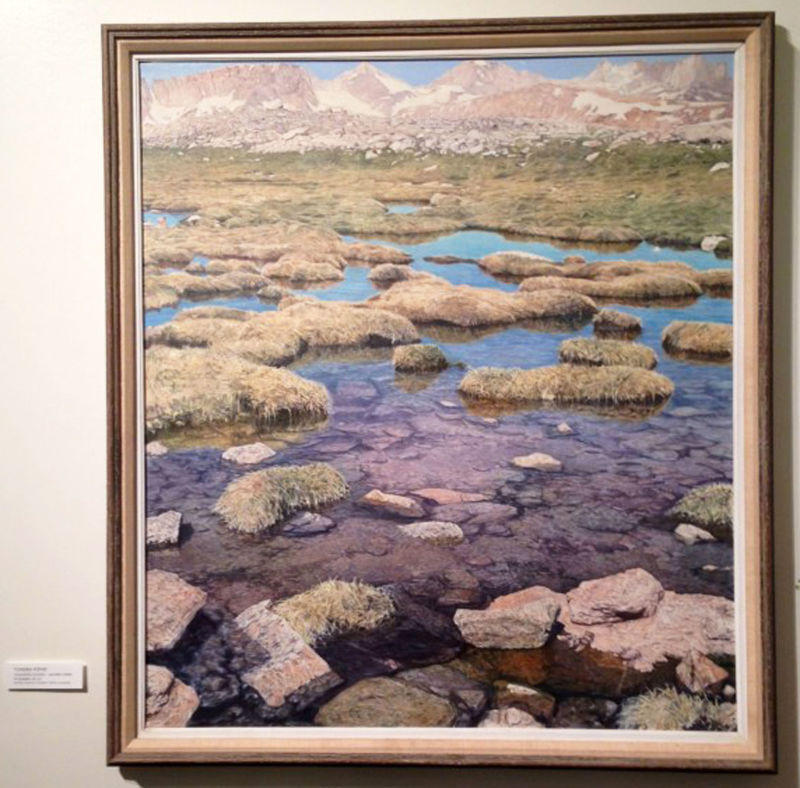 """Tundra Pond"" by photorealist painter Ray Dutcher."
