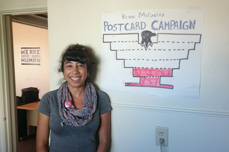 Marichel Mejia, an organizer with the United Farm Workers Foundation based in Bakersfield, has pushed McCarthy to support immigration reform. The large agriculture community and Latino population have influenced the district's immigration politics.