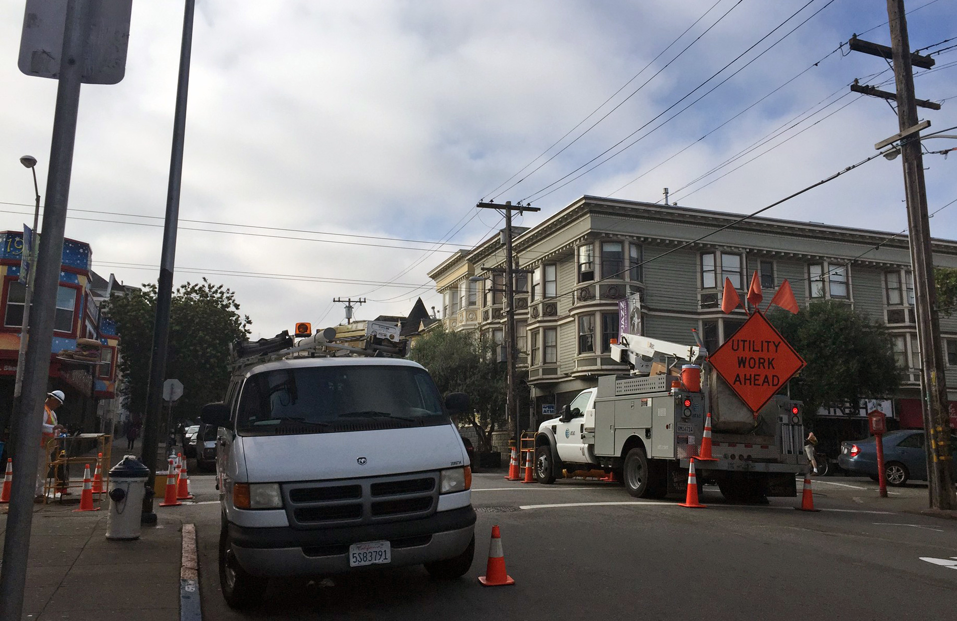 The city has shut down an infrastructure project in the Haight after five gas leaks.