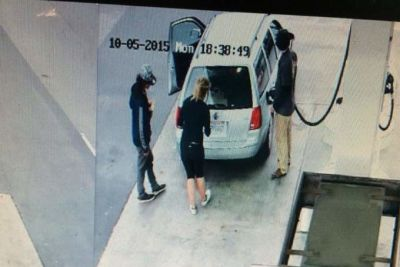 Police say this image from a Point Reyes Station gas station surveillance video shows the three suspects in a pair of Bay Area killings Oct. 4 and 5.
