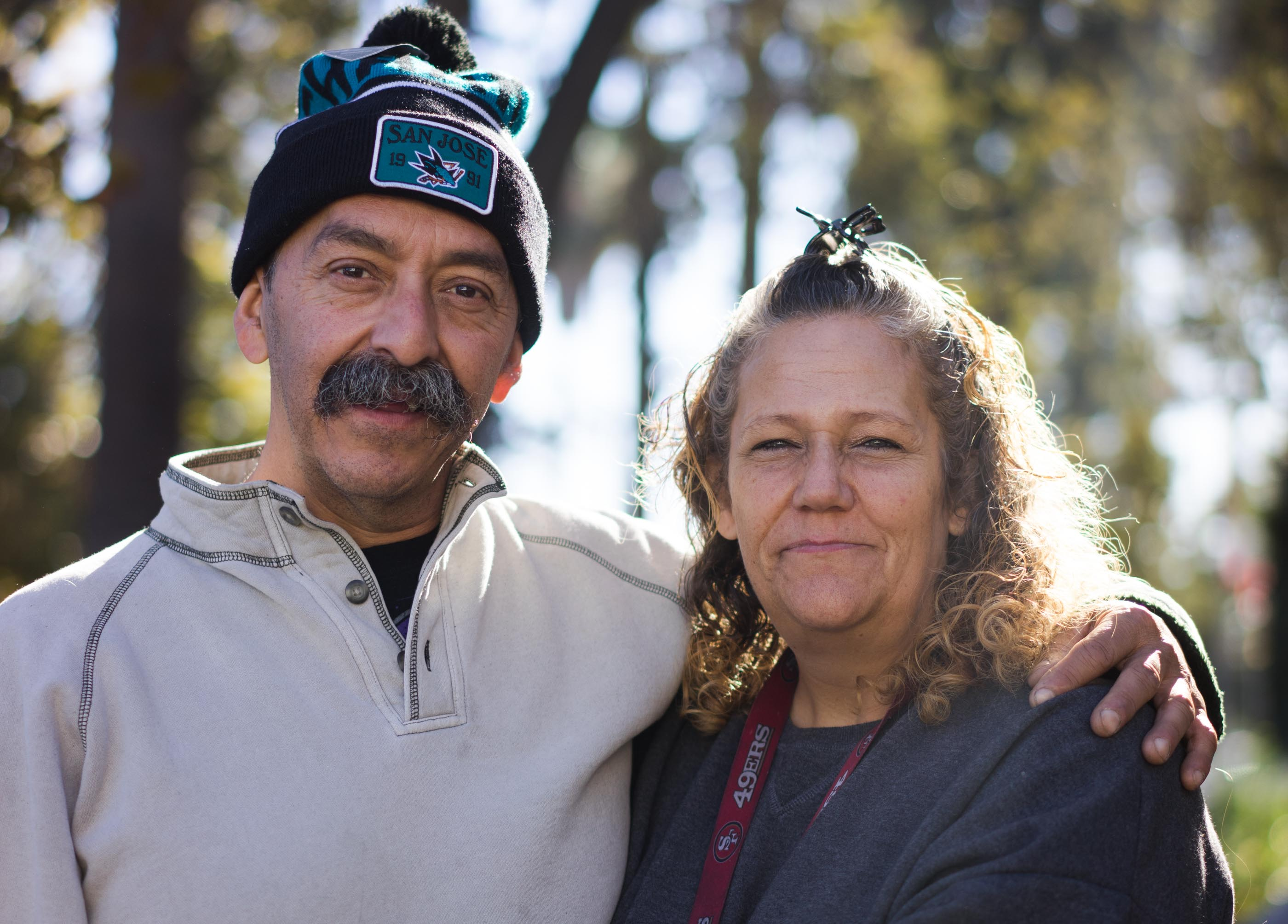 Brian and Andrea Rodriguez have been living on San Jose's streets and creeks for the better part of two years now, keeping each other's spirits up as they fight to get back into paying jobs and permanent housing.