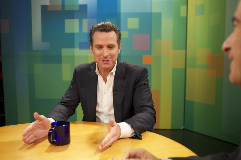 Lt. Governor Gavin Newsom on KQED's Newsroom.