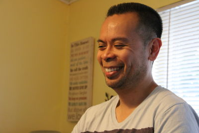 Dominic Lim, 41, is first generation Filipino-American. He grew up never learning to speak his family's native dialect, Tagalog.