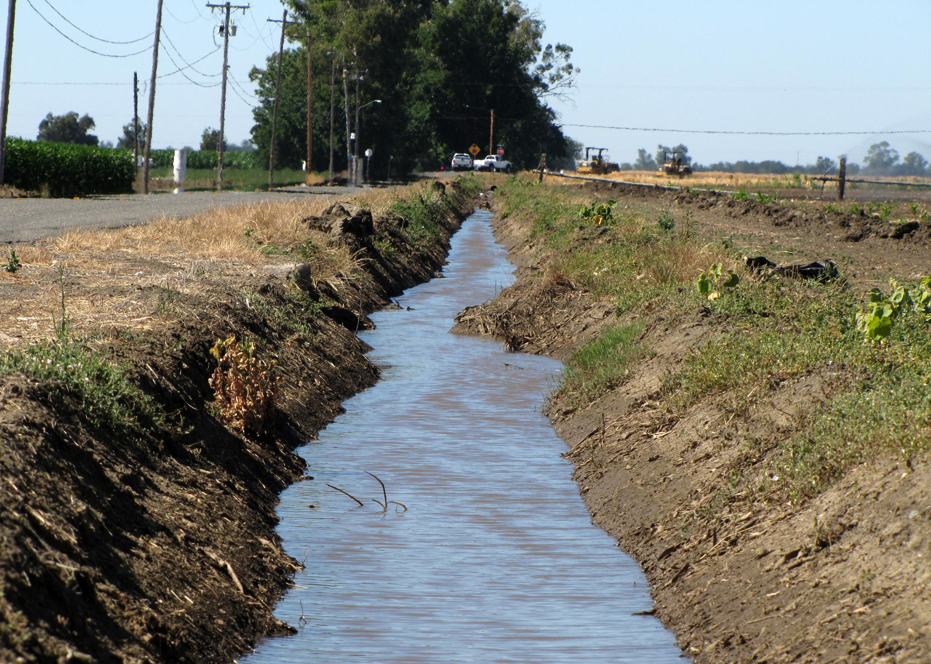 An irrigation ditch near the Solano County town of Dixon.
