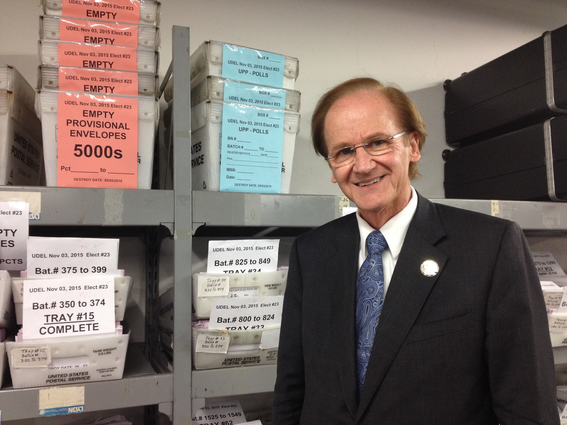 San Mateo County Chief Elections Office Mark Church.