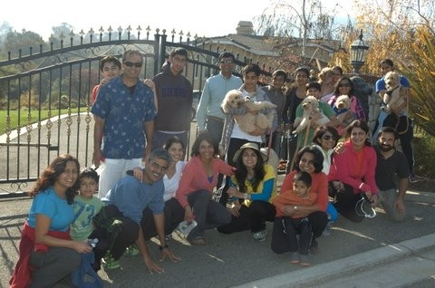 Pragati's family and friends on Thanksgiving a few years ago.