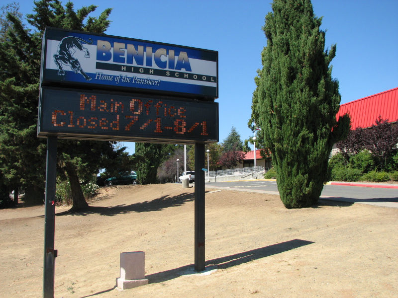 Benicia High School in the Benicia Unified School District is experimenting with project based learning in history teacher Edward Coyne's class.