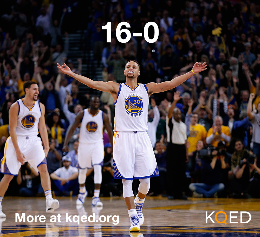 Steph Curry and the Warriors moved to 16-0 after defeating the Lakers Tuesday night.