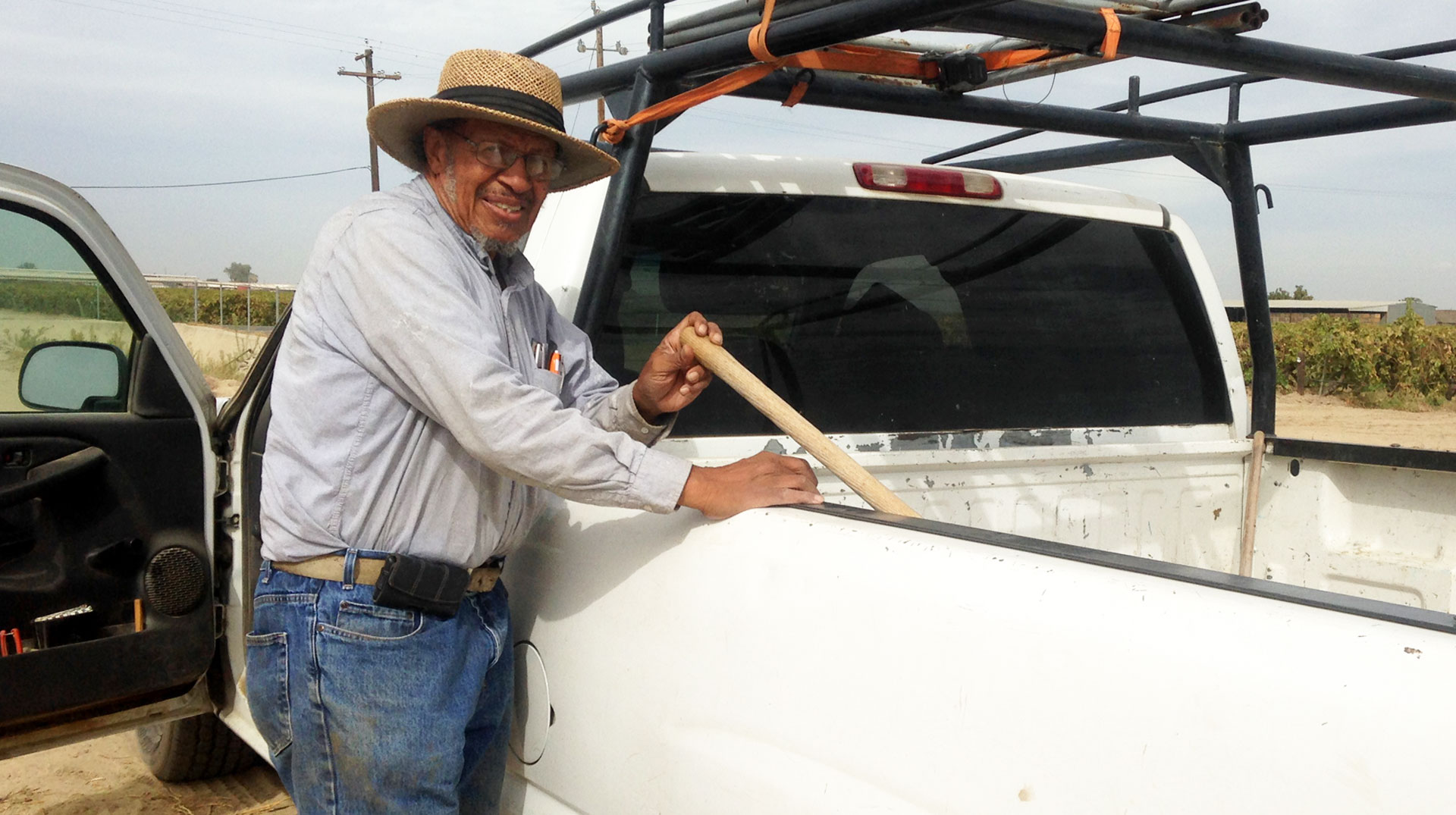 Will Scott Jr. gets ready to head home after a day on his farm.