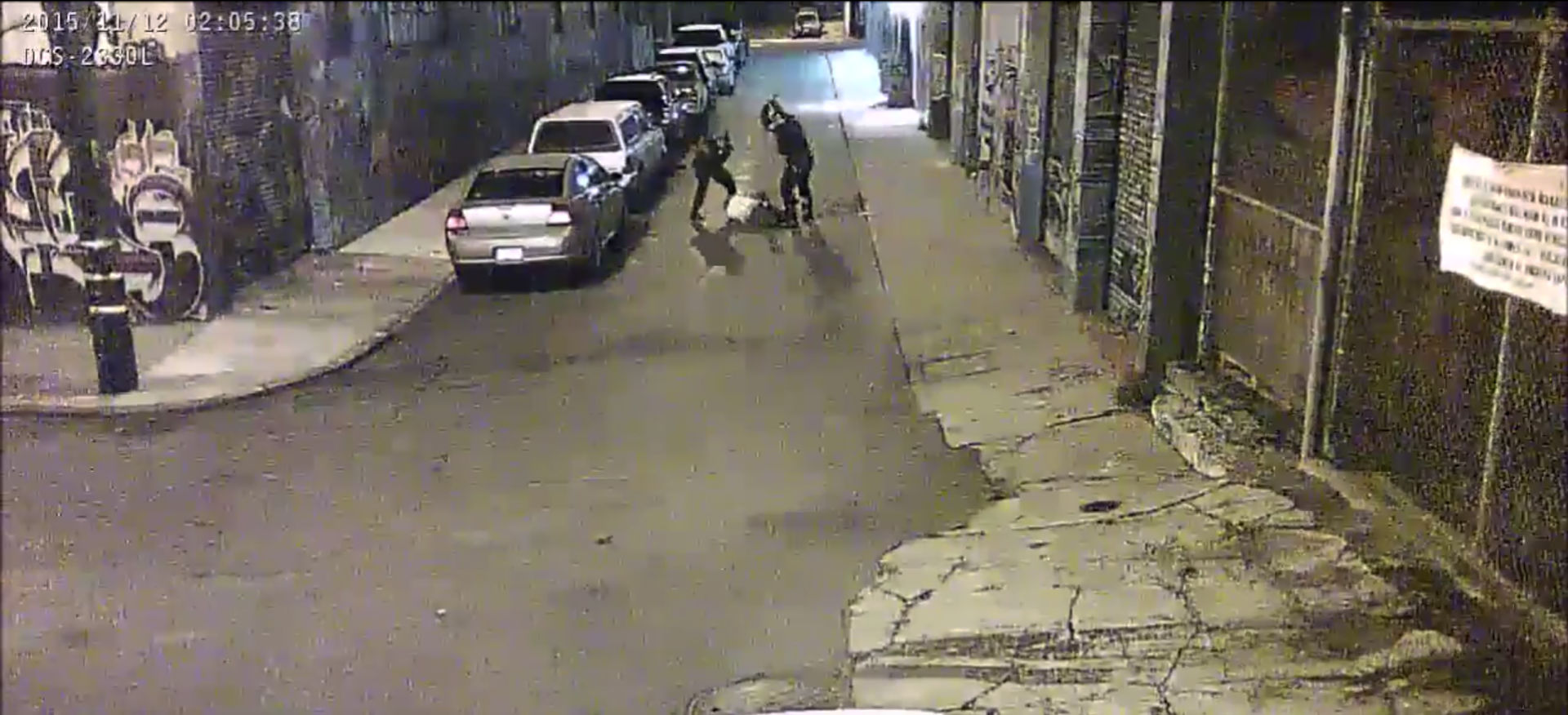 A screenshot from video footage released by San Francisco Public Defender's office.