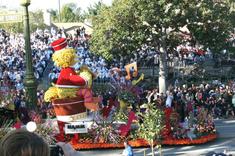 Crowds gathered for the parade in 2009.