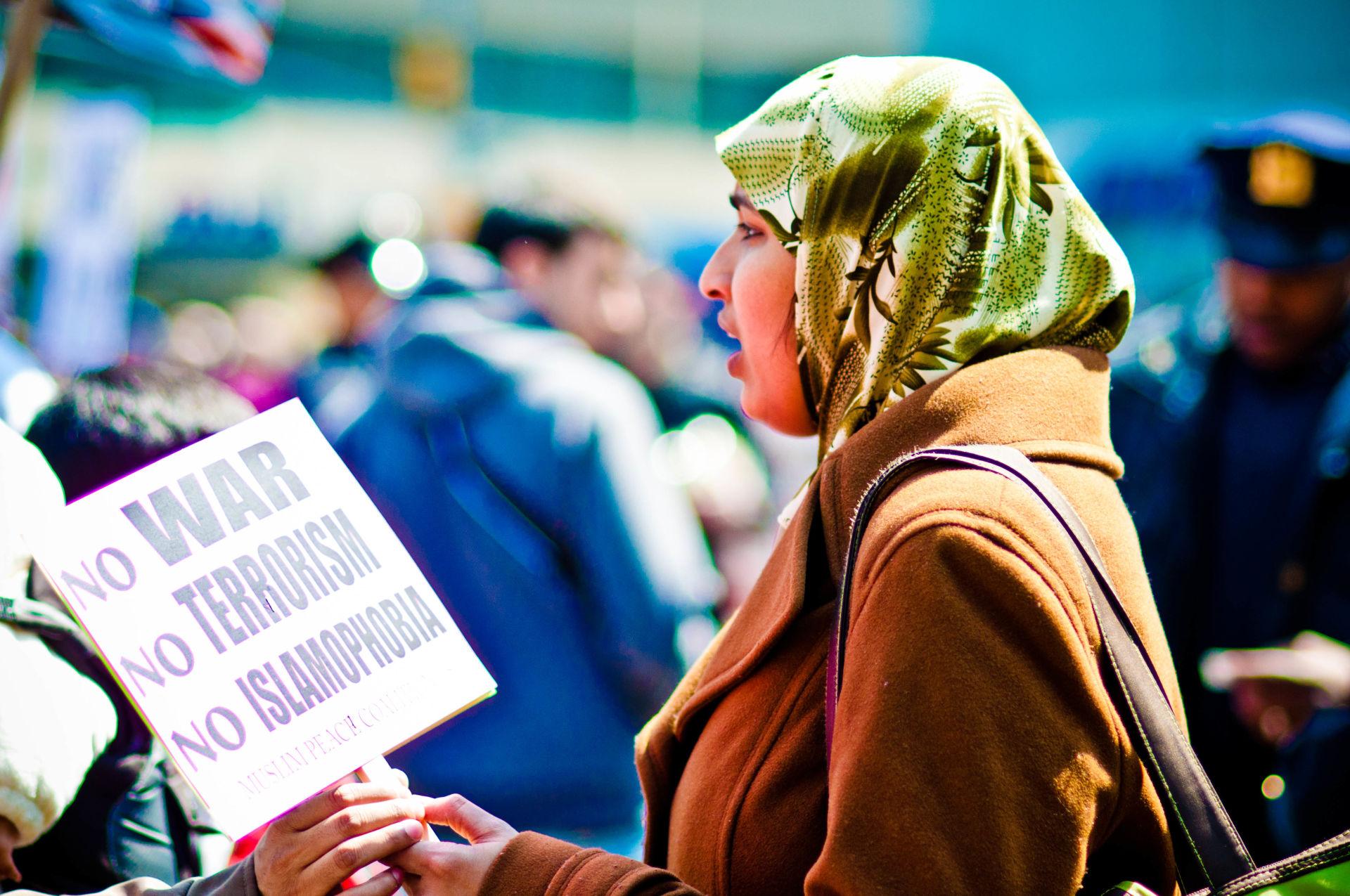 No Islamaphobia rally in 2011.